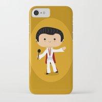 elvis presley iPhone & iPod Cases featuring Elvis Presley by Sombras Blancas Art & Design