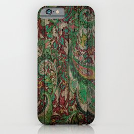 Kashmir on Wood 05 iPhone Case