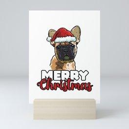 Merry Christmas French Bulldog Dog Lover Gift Mini Art Print