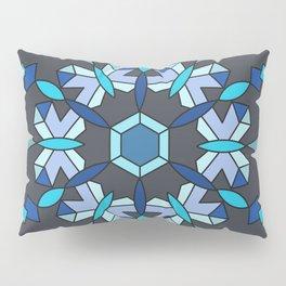 Moth's Crystal Snowflake - Blue Version Pillow Sham