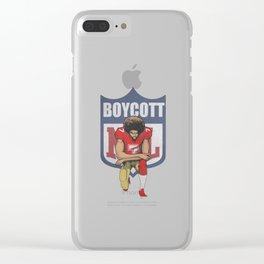Collin Kaepernick Boycott Clear iPhone Case