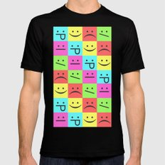 Smiley Chess Board MEDIUM Mens Fitted Tee Black
