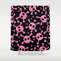 pirates Shower Curtains featuring Pirates by Rceeh