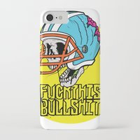 nfl iPhone & iPod Cases featuring NFL Skull by Bowman Illustration