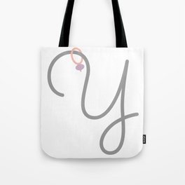 Y Initial with Stitch Marker Tote Bag