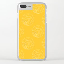 HYPNO - yellow Clear iPhone Case