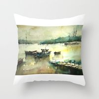 istanbul Throw Pillows featuring  Istanbul by Baris erdem