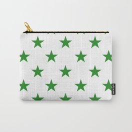 Stars (Forest Green/White) Carry-All Pouch