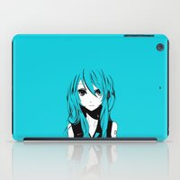 vocaloid iPad Cases featuring Miku in a stream of colors by DPain