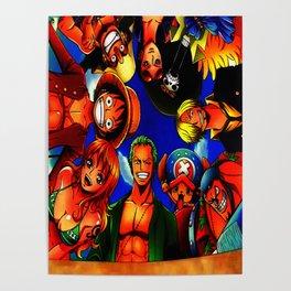 tim mugiwara luffy Poster