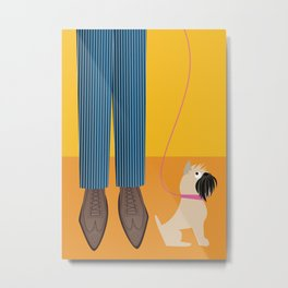 Wingtips and a Brussels Griffon for Handsome Devil Press Metal Print