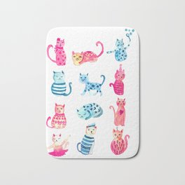 cats time Bath Mat