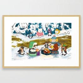Winter Holiday S'morefest Framed Art Print