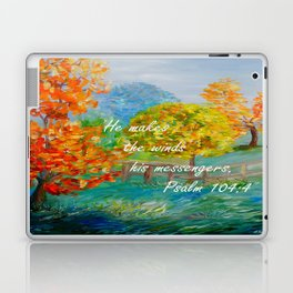 He Makes the Winds His Messengers Laptop & iPad Skin
