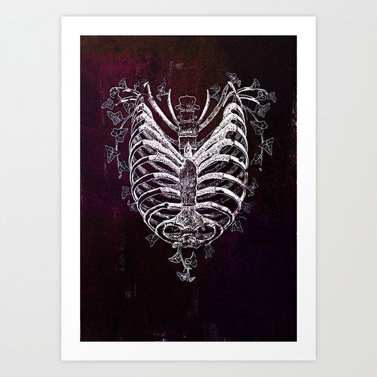 Ribcage Heart Art Print