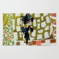 shopping Area & Throw Rugs featuring shopping queen by Marie Elke Gebhardt