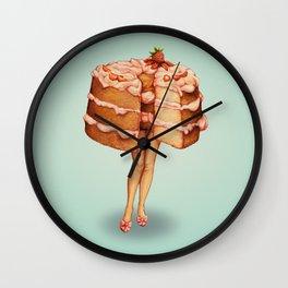 Cake Girl - Angel Food Wall Clock