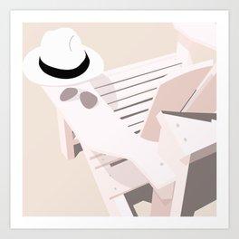 Monotoned beachday Art Print