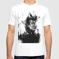 glasswall White Mens Fitted Tee MEDIUM