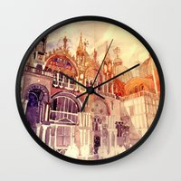 takmaj Wall Clocks featuring Venezia by takmaj