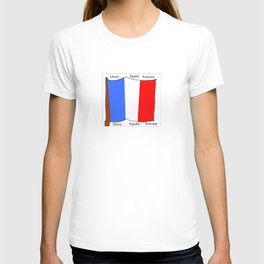 Flag of France III- France, Français,française, French,romantic,love,gastronomy T-shirt