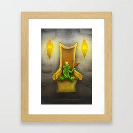 Frog Prince on Throne Framed Art Print
