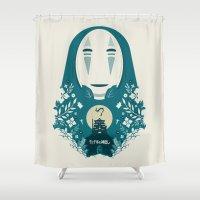 spirited away Shower Curtains featuring Spirited by Duke Dastardly