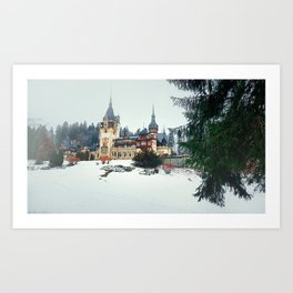 Peles Castle Romania Art Print
