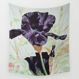 Black Iris Wall Tapestry