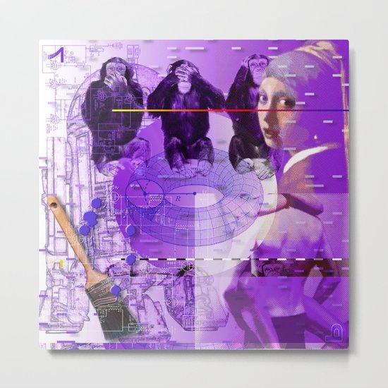 It's Just Not Gonna Happen < The NO Series (Purple) Metal Print
