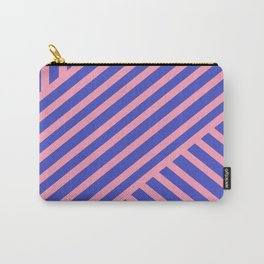 Crossing Lines - Pink & Blue Carry-All Pouch