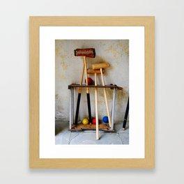 Anyone For Croquet? Framed Art Print
