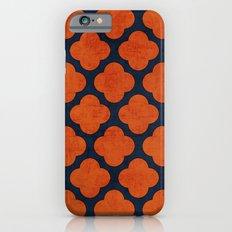 navy and orange clover Slim Case iPhone 6