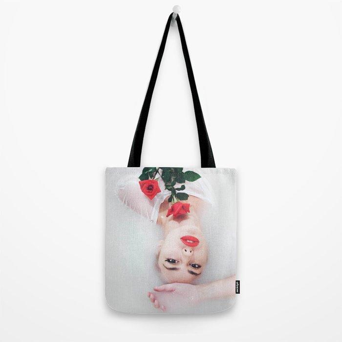 Floral bath Tote Bag