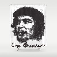 che Shower Curtains featuring Che Guevara by Yonk