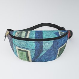 Burano blue house Fanny Pack