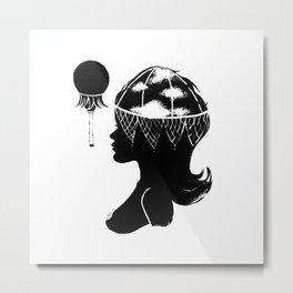 Cloudia Silhouette Metal Print