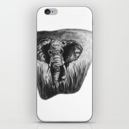 Elephant in tall grass by annmariescreations iPhone Skin