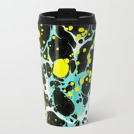Space Blue Marbling Travel Mug