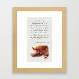 Loving-Kindness Framed Art Print