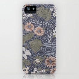 Seafoam Floral Pattern iPhone Case