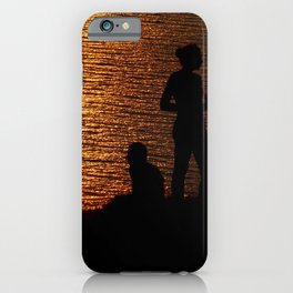limnos - sunset couple iPhone Case