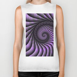 Optical Illusion, Modern Fractal Art Graphic Biker Tank