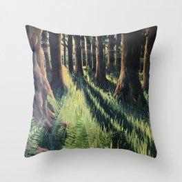 Fern Forest Throw Pillow
