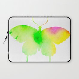 Spring rainbow butterfly Laptop Sleeve