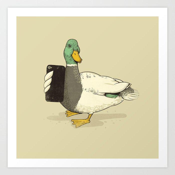 Duck Lips Art Print