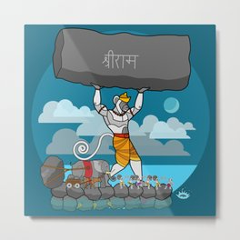Hanuman Bridge Metal Print
