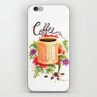 coffe iPhone & iPod Skins featuring Coffe Addict by Luana Mucci