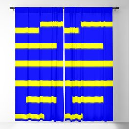 Bright Blue, Bright Yellow Graphic Design Blackout Curtain