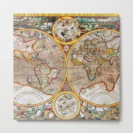 Vintage World map Metal Print
